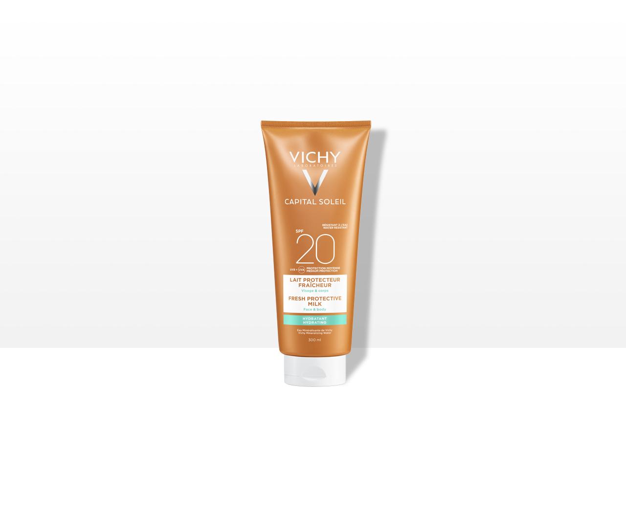 Hydratační ochranné mléko na obličej a tělo SPF 20Střední ochrana
