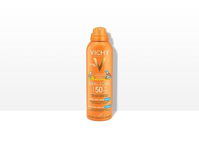 Jemný sprej pro děti odpuzující písekSPF 50+