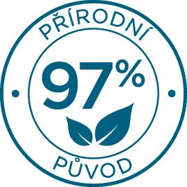 Přírodní původ 97%